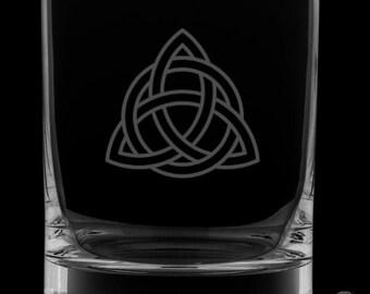 Celtic Knot 13 Ounce Rocks Glass