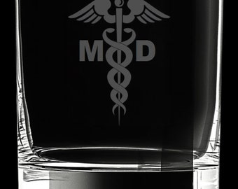 Medical Doctor 10 Ounce Rocks Glass