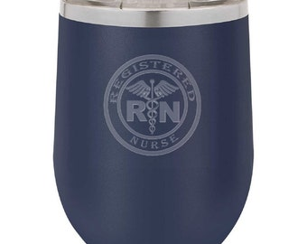 Registered Nurse Wine Tumbler