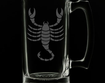 Scorpio 25 Ounce Beer Mug (Also Available in 16oz & 12oz)