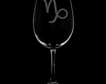 Capricorn 12 Ounce Wine Glass (Available With Stem And Stemless)