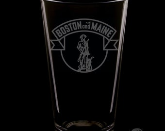 Boston & Maine 16 Ounce Pint Glass