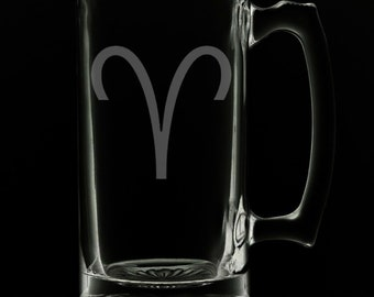 Aries 25 Ounce Beer Mug (Also Available in 16oz & 12oz)