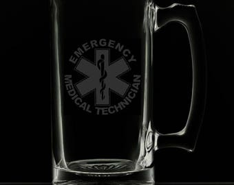 Emergency Medical Technician 25 Ounce Personalized Beer Mug