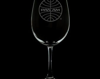 PanAm 1973 Logo 12 Ounce Wine Glass (Available With Stem And Stemless)