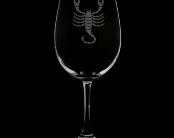 Scorpio 12 Ounce Wine Glass
