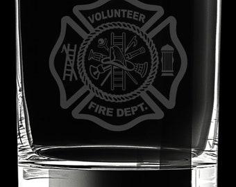 Volunteer Firefighter 10 Ounce Rocks Glass