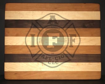 International Association of Firefighters 18 X 14 X 1 Bread/Cheese Board