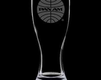 Pan Am 1957 Logo 18 Ounce Pilsner Glass