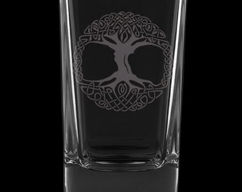 Tree Of Life 2.75 Ounce Dessert Shot Glass (Also available in 2.0oz)