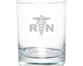 Registered Nurse 13 Ounce Personalized Rocks Glass