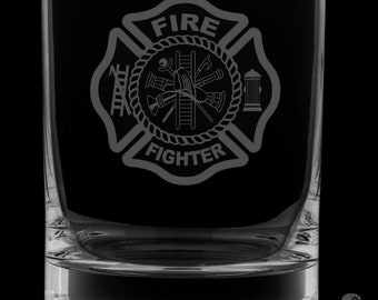 Firefighter 13 Ounce Rocks Glass