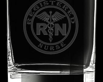 Registered Nurse 10 Ounce Rocks Glass