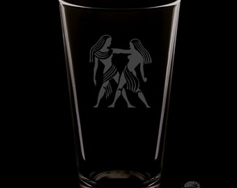 Gemini 16 Ounce Pint Glass