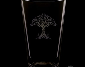 Tree Of Life 16 Ounce Pint Glass