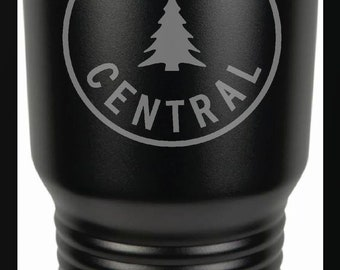 Maine Central Railroad Logo 30 Ounce Black Polar Camel Tumbler (Also Available in Red, White, Gray, & Blue)