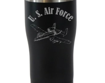 U S Air Force 20 Ounce Black Cordova Tumbler (Also Available in Blue)