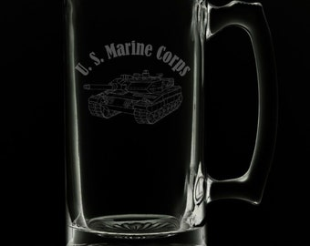 United States Marines 25 Ounce Beer Mug (Also Available in 16oz & 12oz)