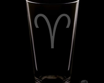 Aries 16 Ounce Pint Glass