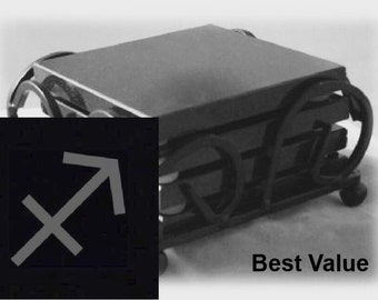 Sagittarius Drink Coasters Made Out Of Black  Granite, or Polished Slate (Black Granite - Best Value)