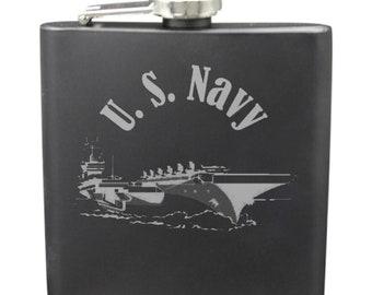 Navy Shot & 6 Ounce Flask Set