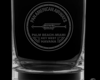 Pan Am 13 Ounce 1927 Logo Rocks Glass
