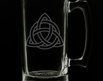 Celtic Knot 25 Ounce Beer Mug (Also Available in 16oz & 12oz)