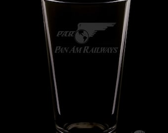 Pan American Railways 16 Ounce Pint Glass