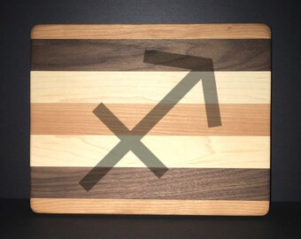 Sagittarius Cuttingboards Made Out Of Cherry, Black Walnut, and Maple (8 X10 size displayed)
