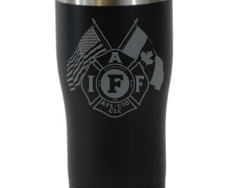 IAFF 20 Ounce Black Cordova Outdoors Tumbler (Also Available in Navy Blue)