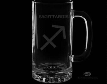 Sagittarius 16 Ounce Personalized Beer Mug