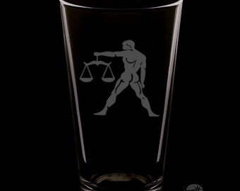 Libra 16 Ounce Pint Glass