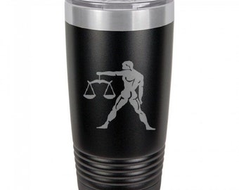 Libra 20 Ounce Black Polar Camel Tumbler (Also Available in Red, White, Gray, & Blue)