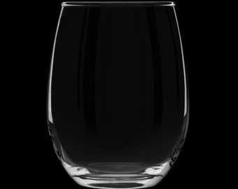 Blank 12 Ounce Stemless Wine Glass