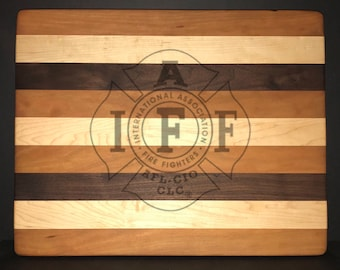 International Association of Firefighters Bread/Cheese Board.
