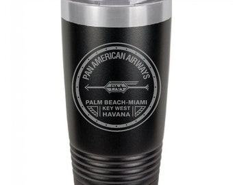 PanAm 1927 Logo 20 Ounce Black Polar Camel Tumbler (Also Available in Red, White, Gray, & Blue)