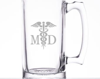 Medical Doctor 25 Ounce Personalized Beer Mug