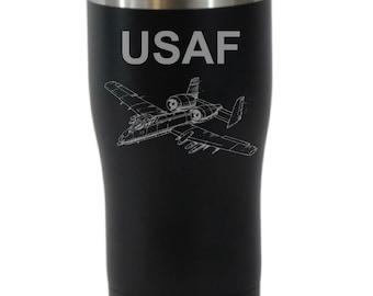 U S Air Force 20 Ounce Black Cordova Tumbler