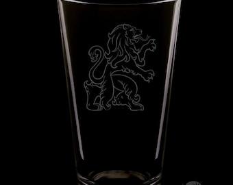 Scottish Lion 16 Ounce Pint Glass