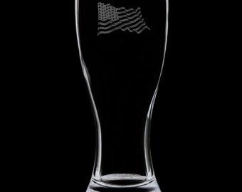 US Veteran 18 Ounce Pilsner Glass