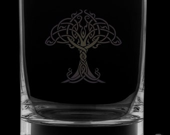 Tree Of Life 13 Ounce Rocks Glass