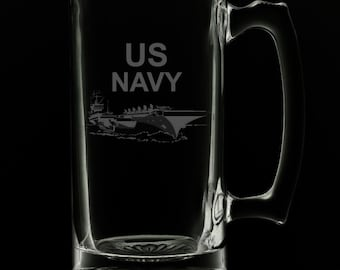 United States Navy 25 Ounce Beer Mug (Also Available in 16oz & 12oz)