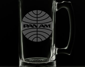 PanAm 1957 Logo 25 Ounce Beer Mug (Also Available in 16oz & 12oz)