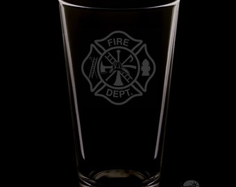 Fire Department 16 Ounce Pint Glass