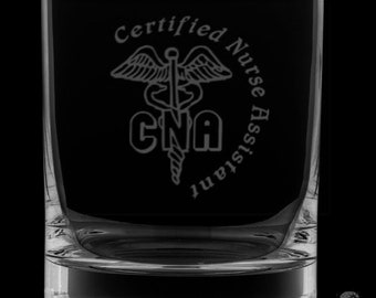 Certified Nurse Assistant 13 Ounce Rocks Glass
