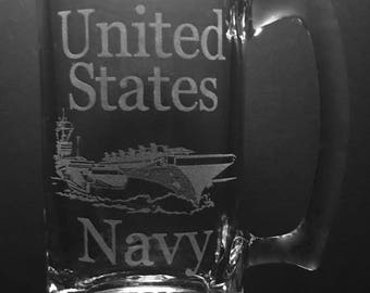 16 Ounce United States Navy Beer Mug