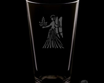 Virgo 16 Ounce Pint Glass