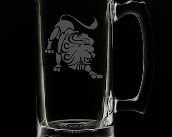 Leo 25 Ounce Beer Mug (Also Available in 16oz & 12oz)