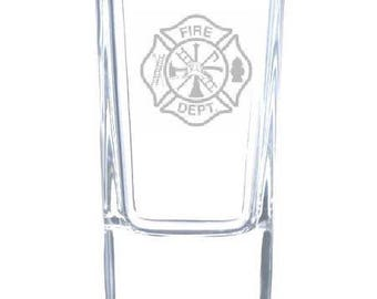 Fire Department 2.5 Ounce Personalized Shot Glass