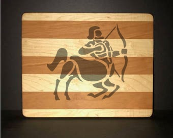 Sagittarius Cuttingboards Made Out Of Cherry and Maple (8 X10 size displayed)